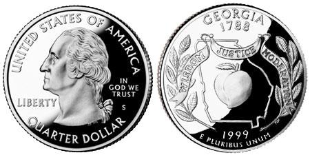 1999 Georgia State Quarter