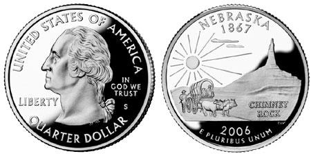 Купить 25 центов 2006 d ohio quarter dollar nebraska из категории нумизматика за 1000 грн, лот 6510440087